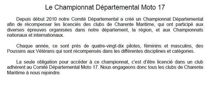 Baniere championnat departemental 1